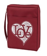Love Bible Cover, Dark Red, Large