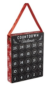 Christmas Countdown Chalkboard Plaque