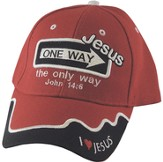 One Way Jesus Cap Red