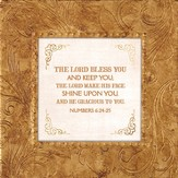 The Lord Bless and Keep you, Framed Print, 7X7