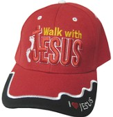Walk With Jesus Cap Red