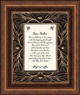Dear Pastor, You Are Lifted Up In This Prayer, Tabletop Framed Print