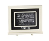 Sister, You Are A Blessing To My Heart, Chalkboard Plaque