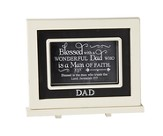 Blessed With A Wonderful Dad, Chalkboard Plaque