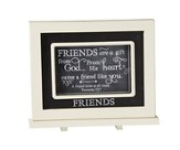 Friends Are A Gift From God, Chalkboard Plaque