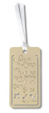 Musician's Prayer Metal Bookmark
