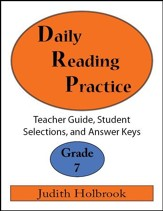 Daily Reading Practice Grade 7 Teacher Guide