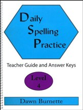 Daily Spelling Practice Level 4 Teacher Guide