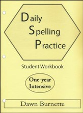 Daily Spelling Practice One-year Intensive Student Workbook
