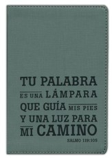Biblia Compacta NTV, SentiPiel con Salmo 119:105, Carbón   (NTV Compact Bible, Leatherlike with Psalm 119:105, Charcoal)
