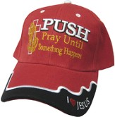 Pray Until Something Happens Cap Red