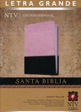 Biblia Personal Letra Gde.  NTV, SentiPiel DuoTono Rosa/Cafe  (NTV LgPt. Personal Bible, Leatherlike DuoTone Pink/Coffee)