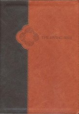 Living Bible: Large Print, TuTone Brown and Tan Imitation Leather