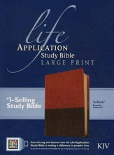 Life Application Study Bible KJV large print brown & tan