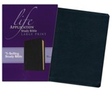 NKJV Life Application Study Bible. Large Print Black Bonded Leather