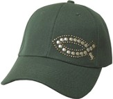 Studded Fish Cap Green