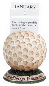 Golf Scripture Holder Calendar