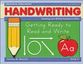 Getting Ready to Write-Book A, 2nd Edition Grades Pre-K - K
