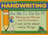 Manuscript Enrichment-Book M, 2nd Edition Grade 2