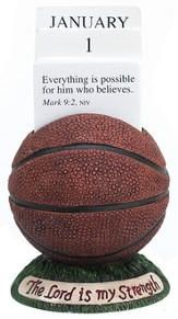 Basketball Scripture Holder Calendar