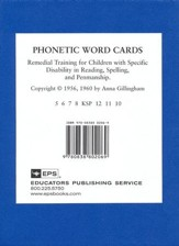 Phonetic Word Cards