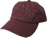 Studded Cross Cap Burgundy