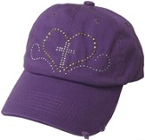 Studded Heart Cap Purple