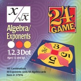 24 Game: Algebra & Exponents (96 Cards)