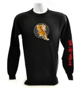 Be Strong/Tiger Long Sleeve T-Shirt, Black, Small (36-38)  - Slightly Imperfect