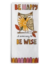Be Happy Tea Towel and Greeting Card