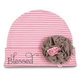 Blessed, Baby Hat, Pink and Brown