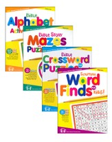 Christian Puzzle Books Set, 4 Pack