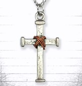 Cross and Copper Wire Pendant