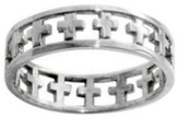 Cutout Cross Stainless Steel Ring, Size 6