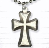 Cross on Bead Chain Pendant