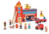 Story Box Fire Station, with Firefighters