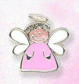 Whimsical Angel Lapel Pin, Pink