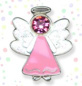 Guardian Angel Lapel Pin, Pink