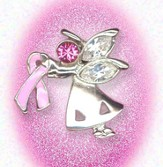 Breast Cancer Angel Lapel Pin