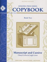 Memoria Press Series Copybook Book 2: Manuscript and Cursive