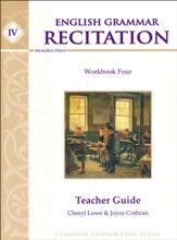 English Grammar Recitation Workbook #4 Teacher Guide