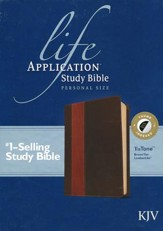 KJV Life Application Study Bible, Personal Size, Brown/Tan Indexed Leatherlike