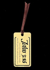 For God So Loved, John 3:16, Metal Bookmark