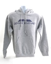 Denver Seminary, Gray Hooded Sweatshirt, Adult Medium (38-40)