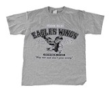 Eagle's Wings Shirt, Gray, Youth Extra Small