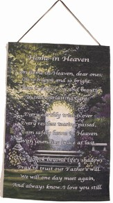 Home In Heaven Wall Hanging