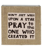 Don't Just Wish Upon a Star Wall Plaque
