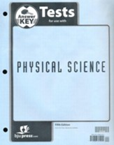Physical Science Tests Answer Key (5th Edition)