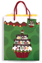 Happy Birthday Jesus Small Gift Bag - Slightly Imperfect