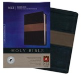 NLT Slimline Center Column Reference Bible, TuTone Black/Taupe Indexed LeatherLike